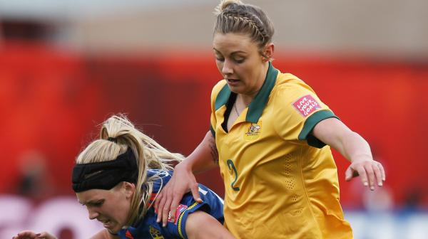 Larissa Crummer impressed on debut for the Matildas.