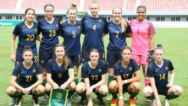 The Westfield Young Matildas at the AFF Women's Championship in Myanmar. Image courtesy ASEAN Football