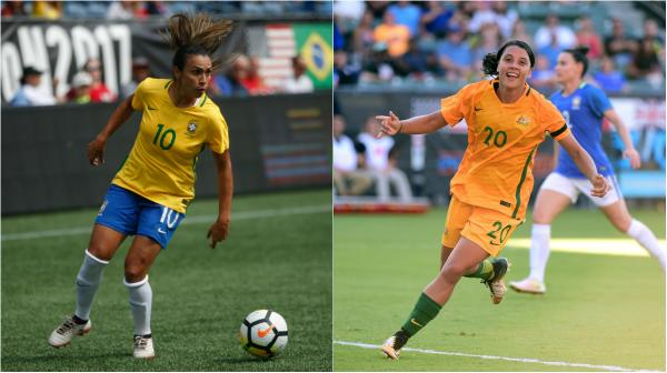 Brazil star Marta and Westfield Matildas striker Sam Kerr will be two star attractions in Penrith on Saturday.