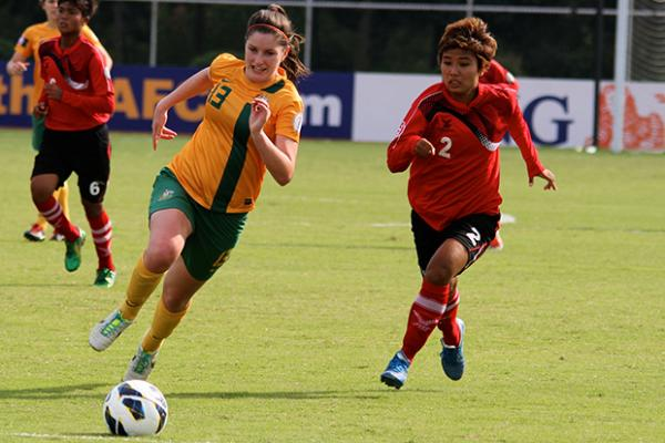 Young Matildas get first AFC U-19 win