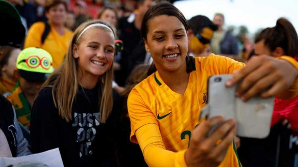 The fans came out in force to see the Westfield Matildas beat Brazil in Penrith on Saturday.