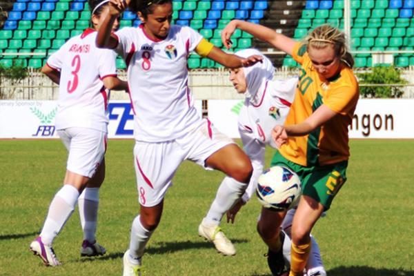 Young Matildas dominate Jordan