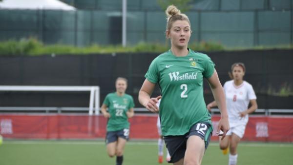 Westfield Matildas striker Larissa Crummer.